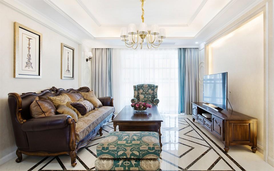 3室2卫1厅118平米美式风格