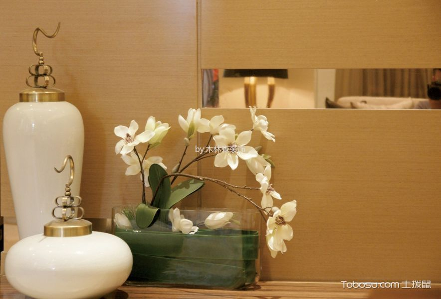客厅橙色电视背景墙美式风格装饰效果图