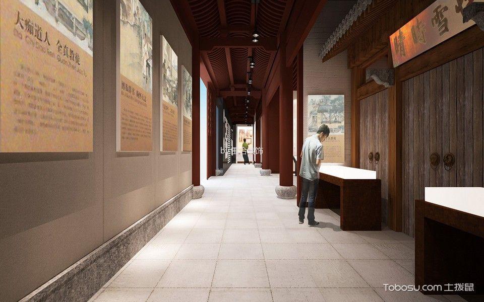 任伯年纪念馆展示厅走廊装修实景图