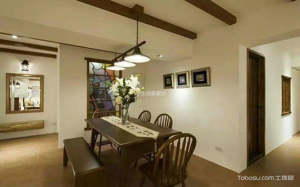 餐厅白色照片墙美式风格装饰效果图