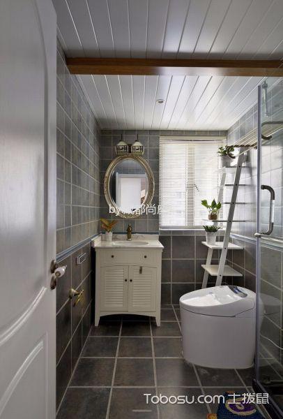 卫生间白色吊顶美式风格装饰效果图