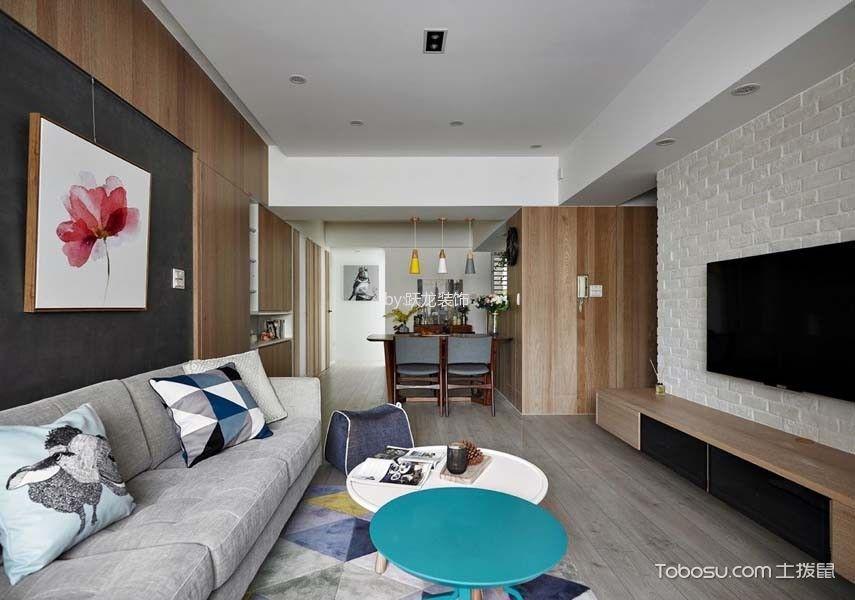 客厅灰色走廊现代简约风格装修图片