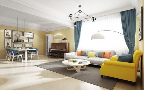 2019现代简约90平米效果图 2019现代简约公寓装修设计