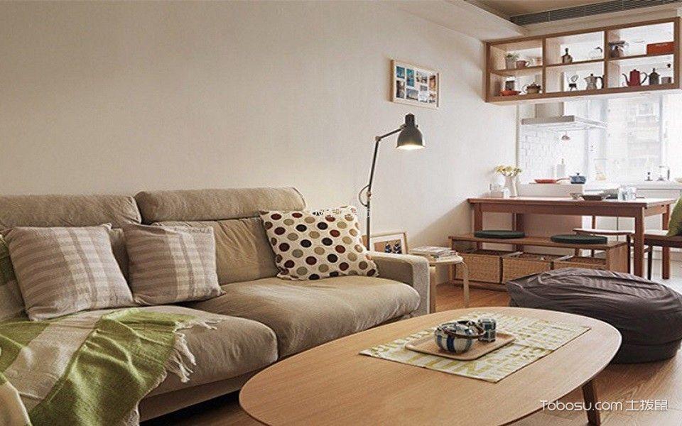 地华里78平2室1厅现代简约风格效果图