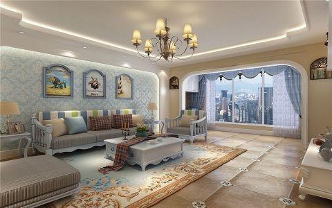 2020地中海110平米装修图片 2020地中海三居室装修设计图片