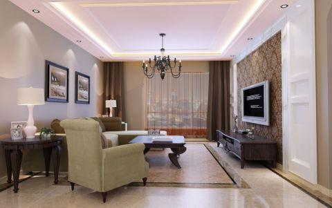 中海青公馆新古典风格三居室装修效果图