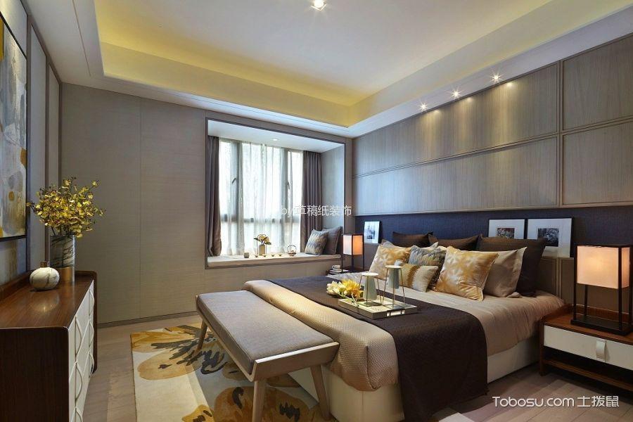 卧室白色飘窗新中式风格装饰图片