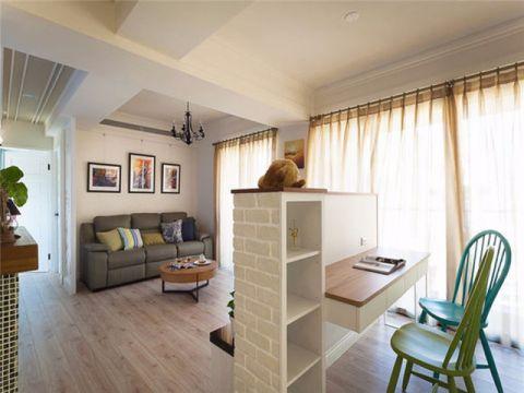 坤泽十里城90平米二居室地中海风格装修效果图