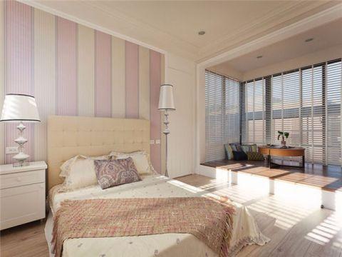 卧室粉色背景墙室内装修图片