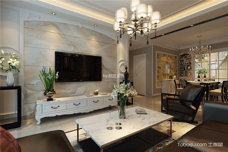 客厅 背景墙_一里洋房简欧风格三居室装修效果图