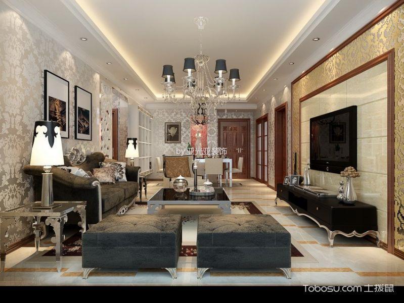 三金华都120平欧式三居室效果图