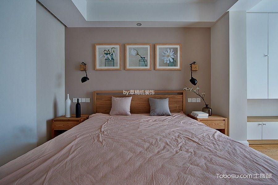 卧室橙色床北欧风格装饰效果图