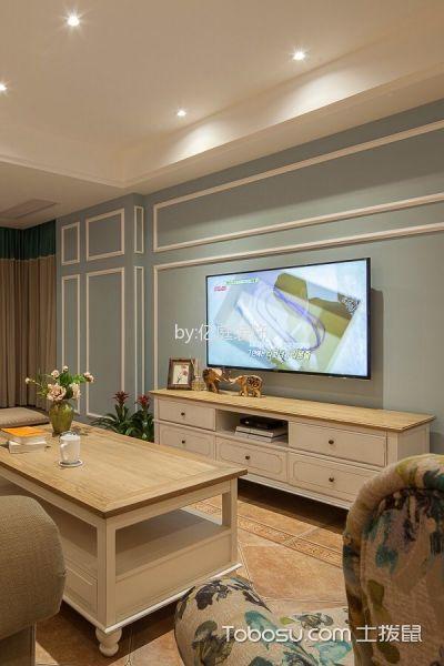 客厅 背景墙_奥体沁园三居室简欧效果图