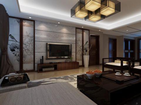 山大公寓220平简中风格装修效果图
