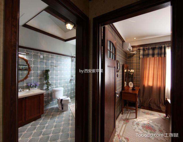 卧室咖啡色梳妆台新中式风格效果图
