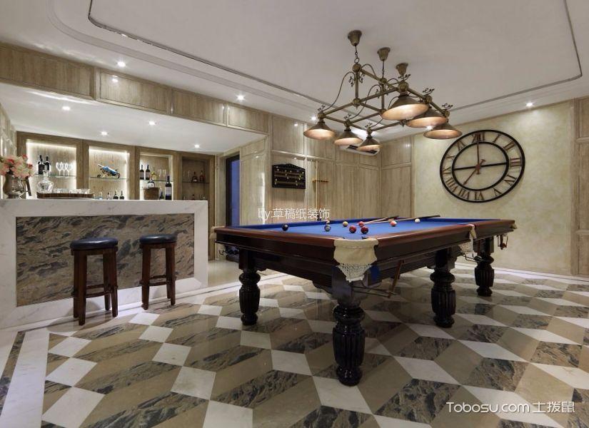 客厅彩色地砖简欧风格装修效果图