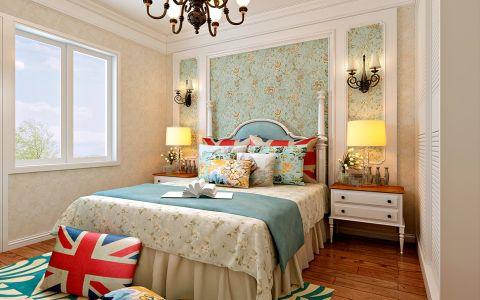 卧室照片墙美式风格装潢图片
