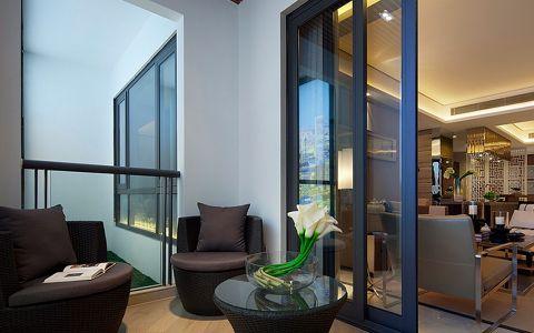 阳台推拉门中式风格装潢设计图片