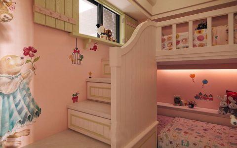 儿童房背景墙田园风格装饰效果图