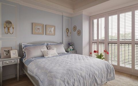 卧室背景墙田园风格装潢效果图