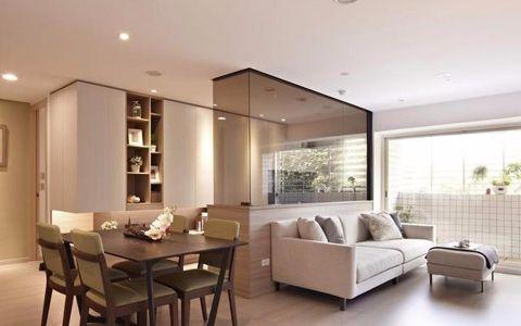 金地自在城现代风两室两厅装修效果图