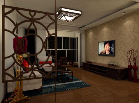千林郡中式风二居室装修效果图