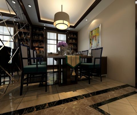 餐厅吧台简中风格装饰图片