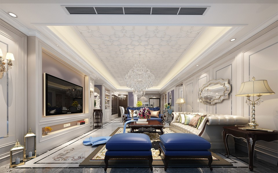 3室2卫1厅180平米法式风格