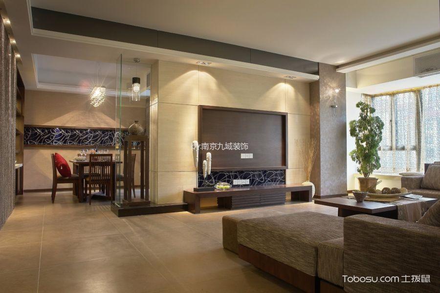保利中央公园120平米混搭风格三居室装修效果图