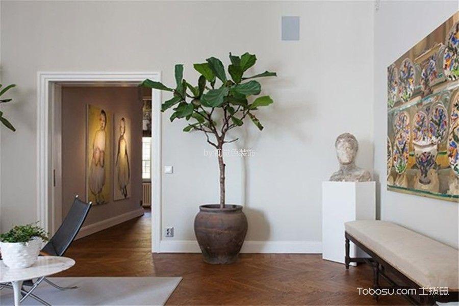 客厅咖啡色地板砖田园风格装饰设计图片
