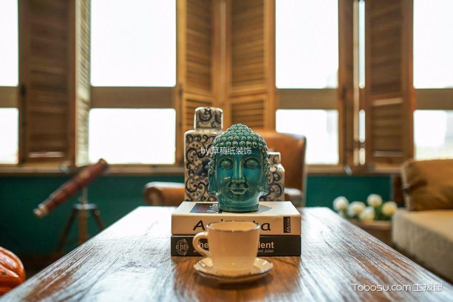 舒适乡村咖啡色茶几效果图图片