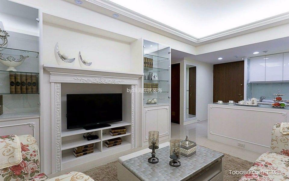 90平米三居室田园风格装修效果图
