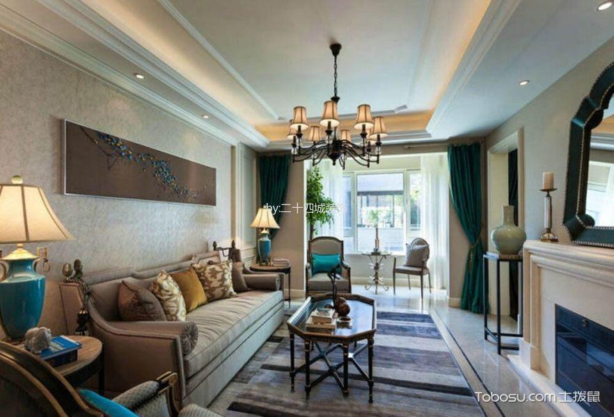 混搭风格140平米三室两厅新房装修效果图