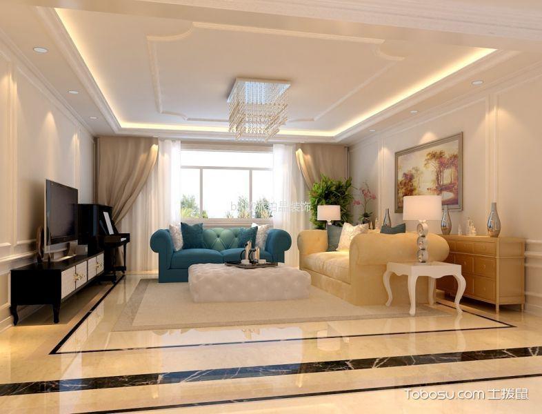 金地明悦100平米欧式风格三居室装修效果图