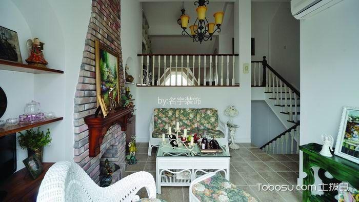 长泰西郊250平米美式风格四居室装修效果图