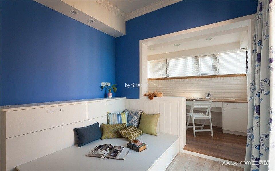 长华里90平米地中海风格二居室装修效果图
