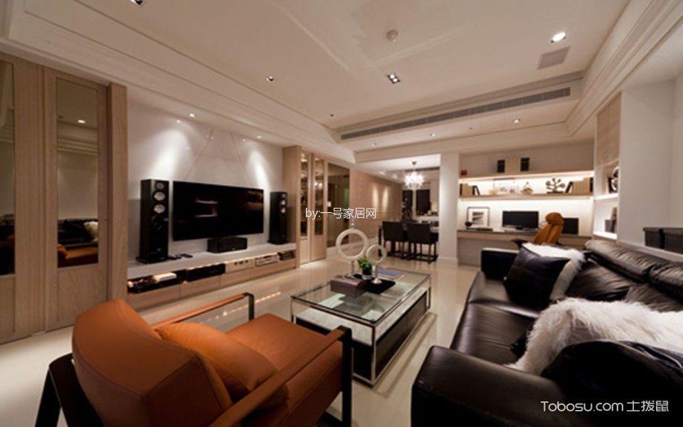 江河东澜湾90平米古典风格三居室装修效果图