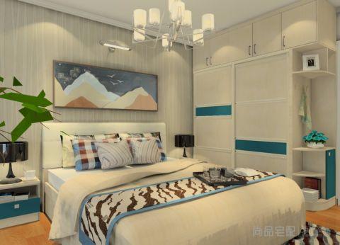 卧室推拉门简约风格装潢设计图片