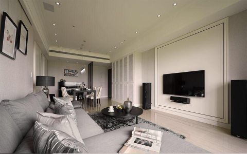 军事管理区70平米欧式风格一居室装修效果图