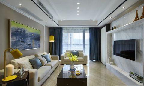 客厅窗帘混搭风格装修图片