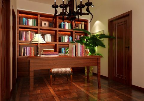 书房吊顶新中式风格装潢图片