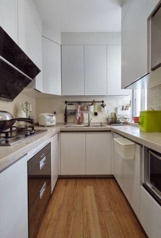 厨房背景墙北欧风格装潢图片