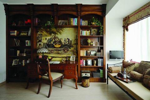 书房窗台美式风格装潢设计图片