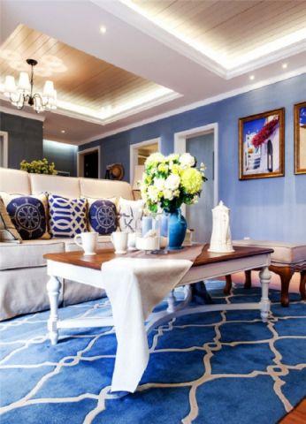 客厅照片墙地中海风格装修效果图