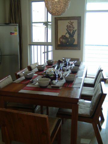 东方花园120平米东南亚风格三居室装修效果图