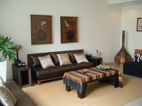 客厅背景墙东南亚风格装潢效果图