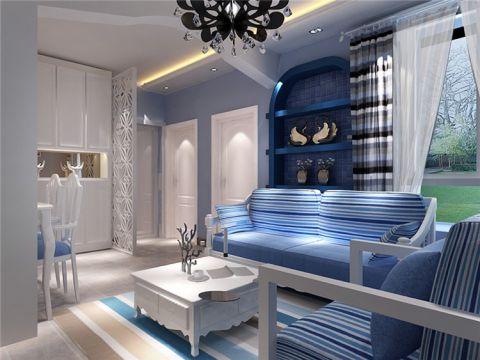 中海万景熙岸地中海三居室装修风格效果图