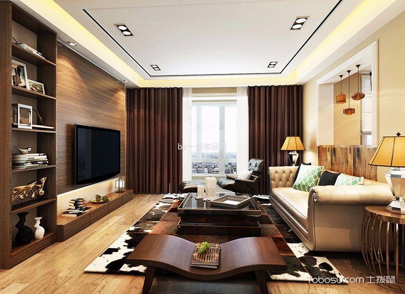 深圳龙光城83平米混搭风格效果图