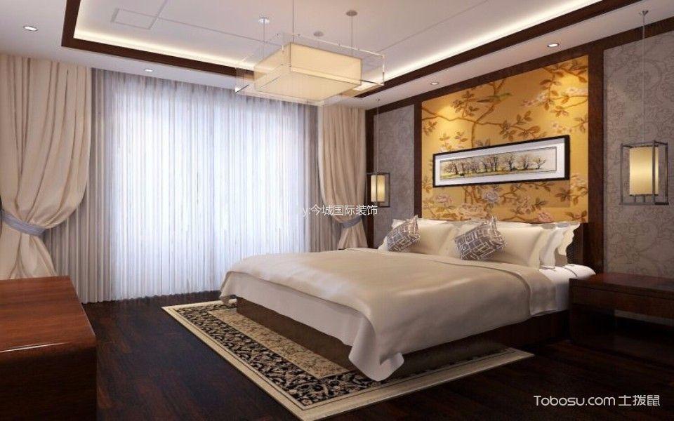 京铁家园120平米中式风格二居室装修效果图