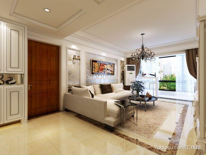 四季景园130平米简约风格二居室装修效果图